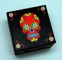 Day of the Dead Red Sugar Skull Mirror Box