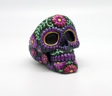Floral Day of the Dead Ashtray