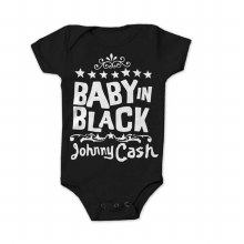 Johnny Cash Kids Baby In Black Onesie