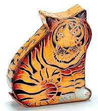 Leather Tiger Coin Bank