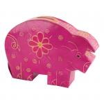 Leather Pig Coin Bank