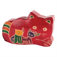 Leather Cat Coin Bank