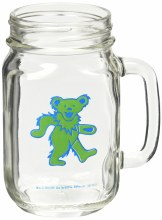 Grateful Dead Bear Mason Jar