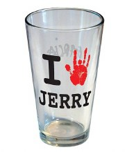 Grateful Dead I love Jerry Pint Glass