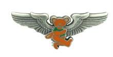 Grateful Dead Orange Dancing Bear Rockwing Pin