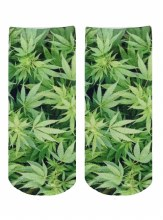 Green Leaf Ankle Socks