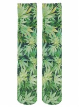 Green Leaf Knee High Socks