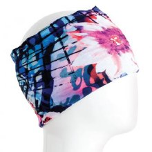 Blue and Pink Floral Infinity Bandana