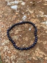 Energy Bead Bracelet Blue Goldstone 4mm