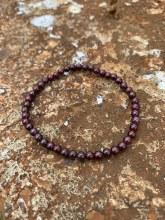 Energy Bead Bracelet Garnet 4mm