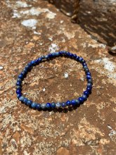 Energy Bead Bracelet Lapis 4mm