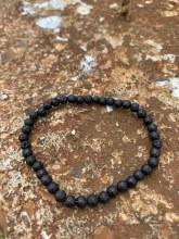 Energy Bead Bracelet Lava Stone 4mm