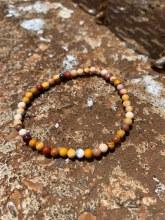 Energy Bead Bracelet Mookaite Jasper 4mm