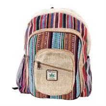 Multicolor Striped Hemp Backpack