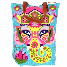 Blue and Bright Elephant Tote Bag
