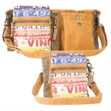 License Plate Crossbody Shoulder Bag