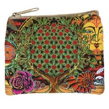 Flower of Life Tree Cosmetic Bag