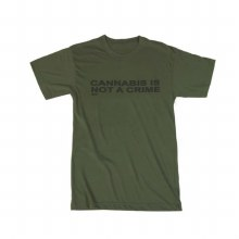 Cannabis is Not a Crime Shirt (Olive)