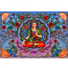 Buddha Lotus Tapestry