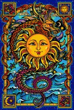 Dragon Sun Tapestry