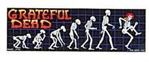 Grateful Dead Evolution Skeleton Sticker