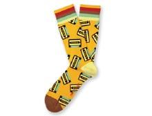 Mixed Tape Socks Big Feet