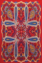 Bright Paisley Tapestry