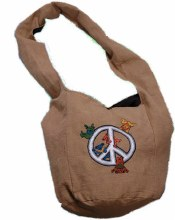 Grateful Dead Bear Peace Peddler Bag