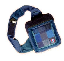 Grateful Dead Steal Your Face Patchwork Courier Bag