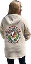 Grateful Dead Steal Your Face Tie Dye Natural Baja