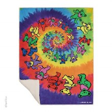 Grateful Dead Bear Spiral Fleece Blanket