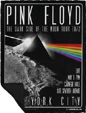 Pink Floyd Darkside of the Moon Fleece Blanket