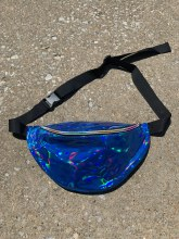 Laser Blue Holographic Fanny Pack