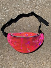 Laser Pink Holographic Fanny Pack