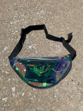 Laser Iridescent See Thru Fanny Pack