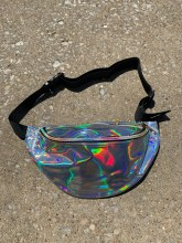 Laser Silver Holographic Fanny Pack