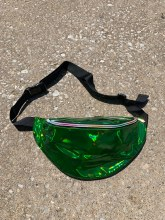 Laser Green Holographic Fanny Pack