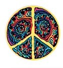 Fractal Peace Sign Sticker
