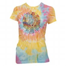 Allman Brothers Band Ladies Mushroom Tie Dye