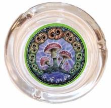 Mushroom Swirls Glass Ashtray