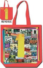 The Beatles 1 Revers Red Tote Bag