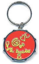 The Beatles Love Drum Red Keychain