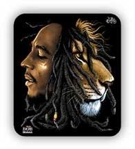Bob Marley Face/Lion Sticker