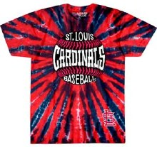 St. Louis Cardinals Baseball Burst Tie Dye