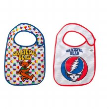 Grateful Dead Bear and Steal Your Face 2 Pack Bib