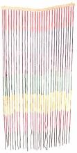 Bamboo Beaded Curtain Rainbow