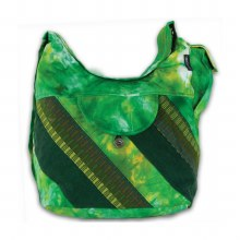 Tie Dyed Denim Saddle Bag