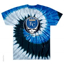 Kansas City Royals Grateful Dead Steal Your Base Spiral Tie Dye