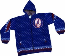 Grateful Dead Alpaca Steal Your Face Navy Alpaca Jacket