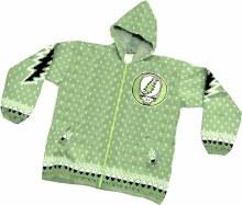 Grateful Dead Alpaca Steal Your Face Green Alpaca Jacket